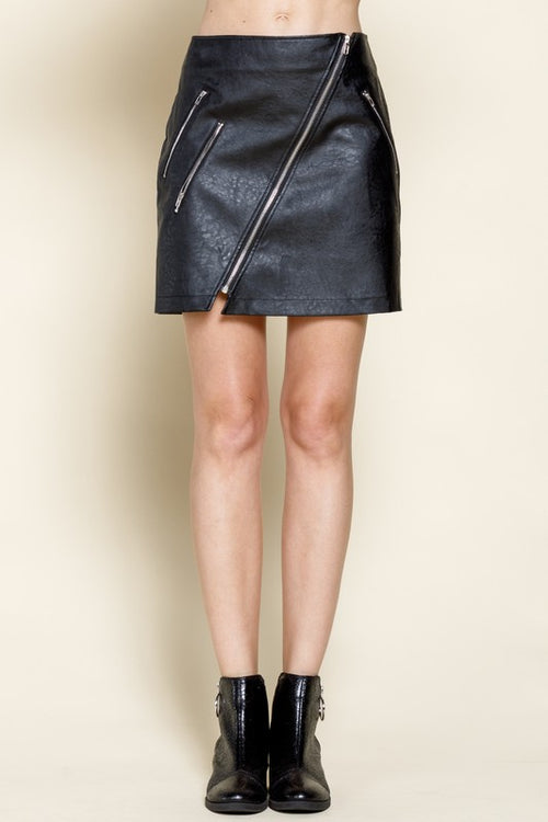 Nora Zippered Point Skirt