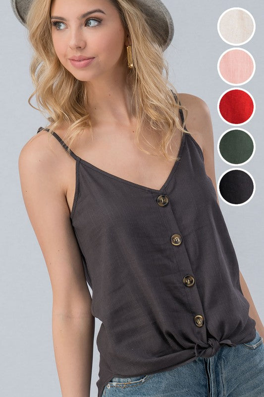 Lahryn Button Down Tank