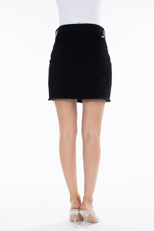 Mini Skirt with Star Stud Patch