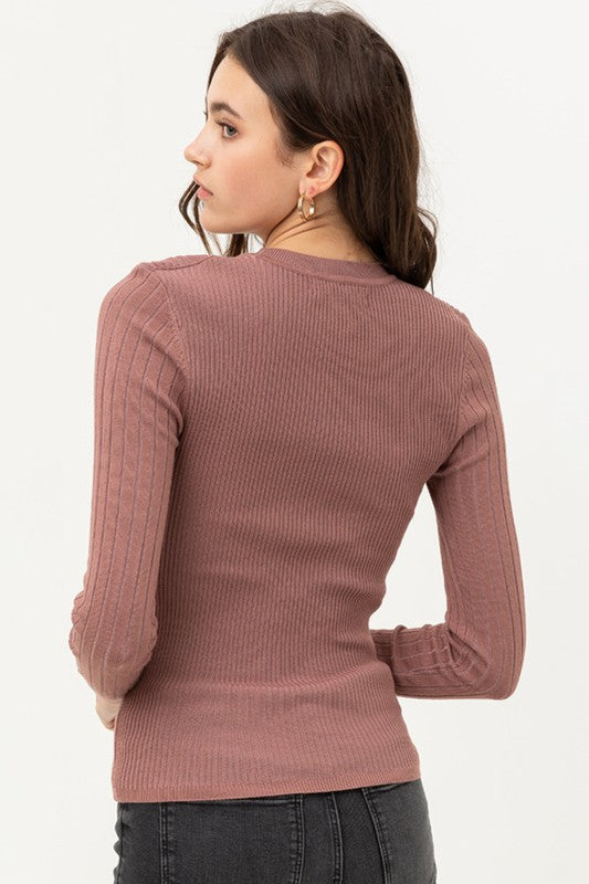 Lani Ribbed Long Sleeve