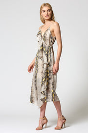 Arya Snake Wrap Dress