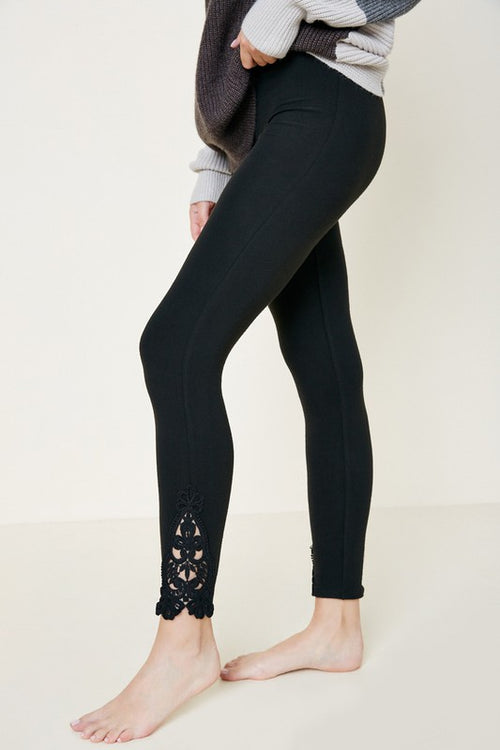 Lace Trim Leggins