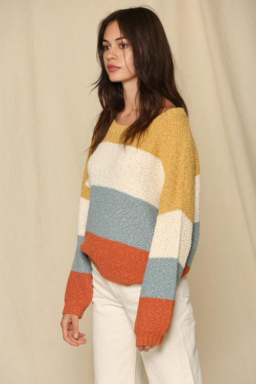 Camryn Color Block Sweater