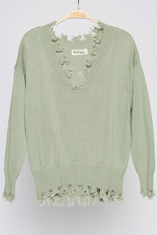 Rylee Frayed Sweater