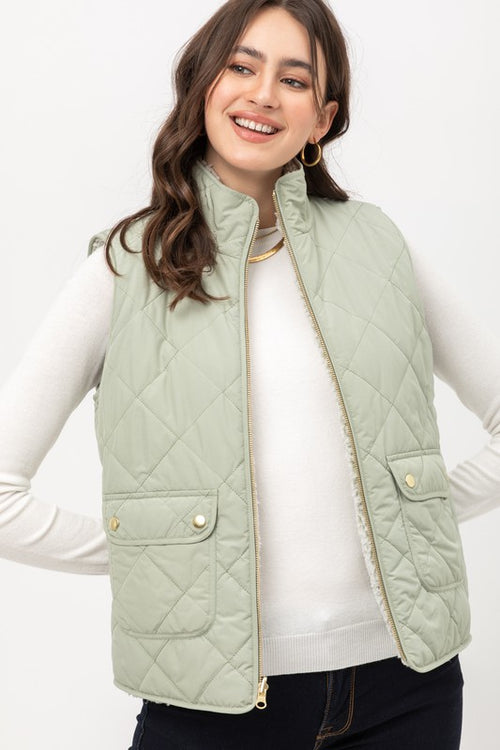 Lucia Quilted Reversible Vest