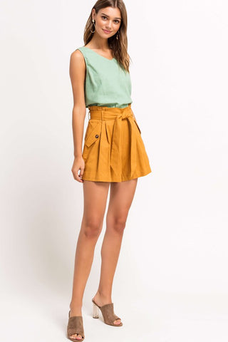 Hazel High Rise Linen Shorts