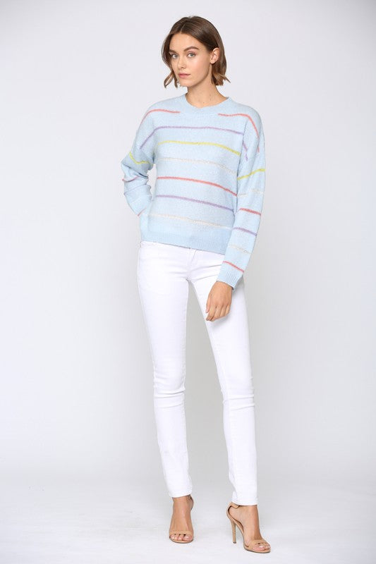 Gabrielle Multicolor Striped Sweater