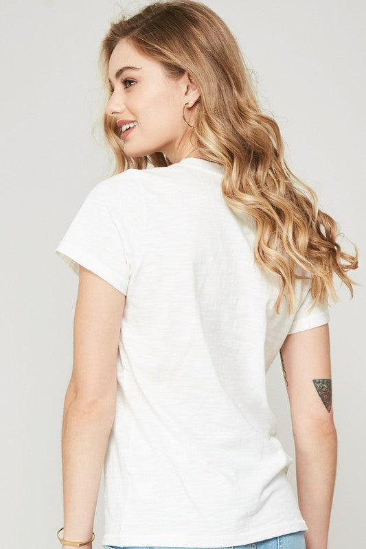 Lightning Embroidered Tee