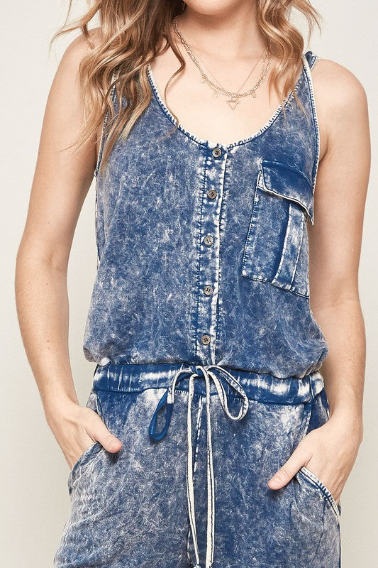 Kori Denim Blue Tank Jumpsuit