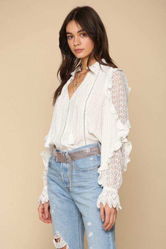 Gwendolyn Ruffle-Sleeved Top