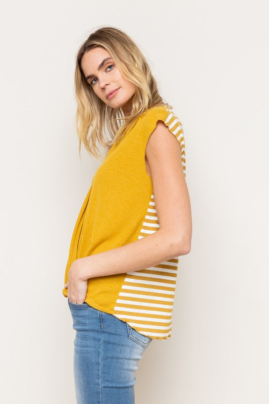 Elly Stripe Back Top