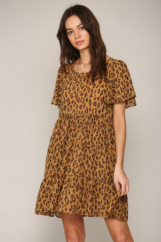 Clara Girls Leopard Print Dress
