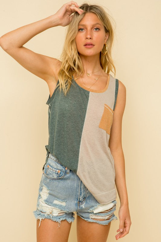 Kimmie Color Block Tank