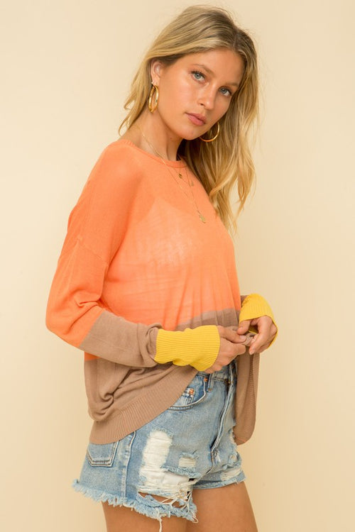 Avah Color Block Sweater