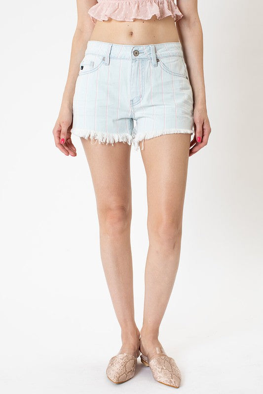 High Rise Striped Shorts