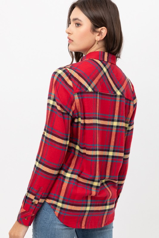 London Plaid Pocket Button Down