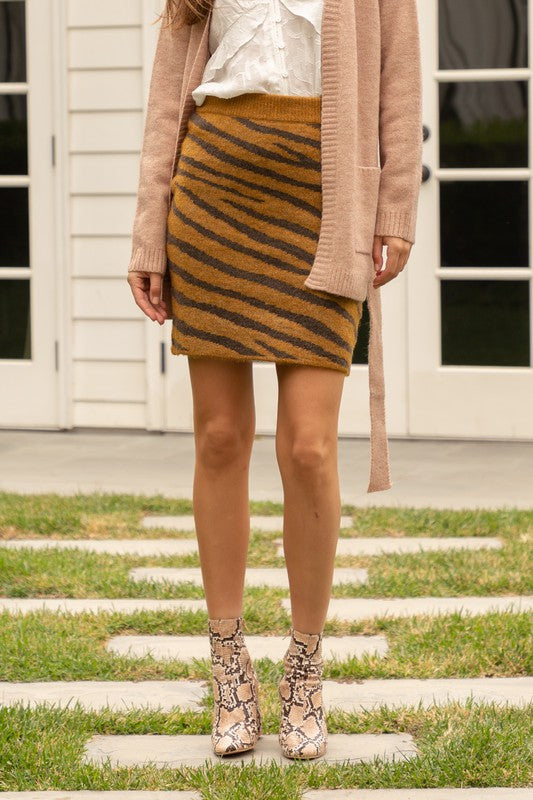Ashlyn Tiger Print Skirt