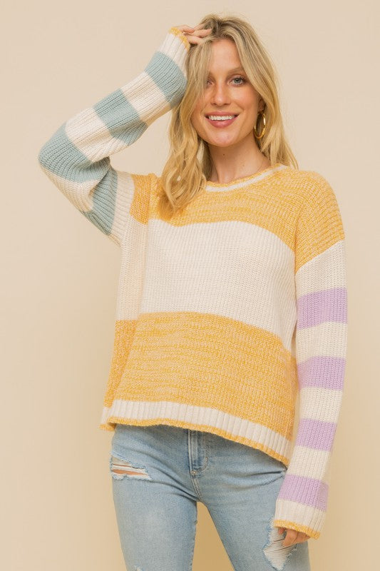 Lainey Color Block Sweater