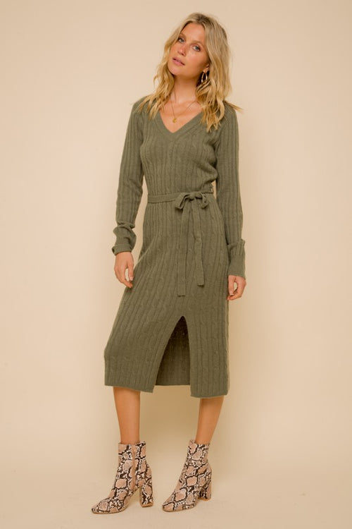 Cara Cable Knit Dress