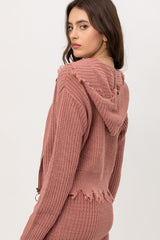 Landry Edged Zipper Up Sweater