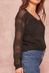 Elena Fishnet Sweater