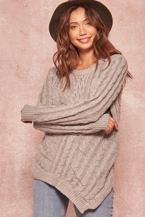 Leighton Cable Knit Sweater