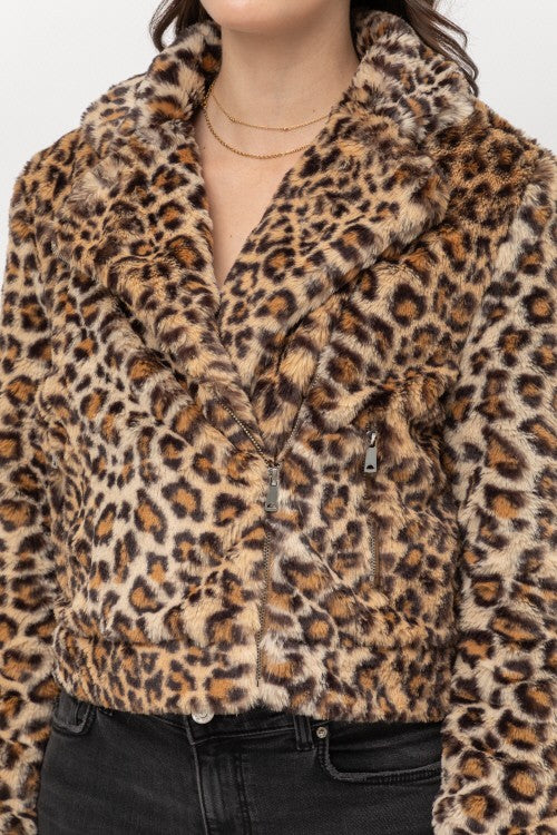 Lilly Leopard Plus Size Jacket