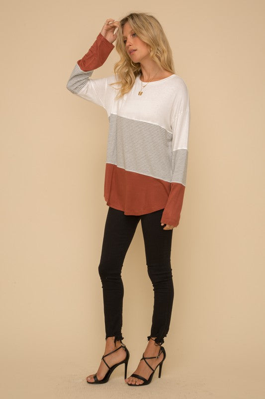 Skylar Color Block Top