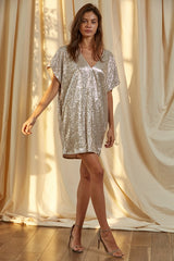 Reese Metallic Dress