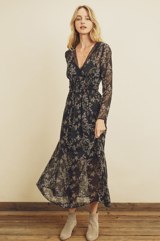 Sara Lace Trim Dress