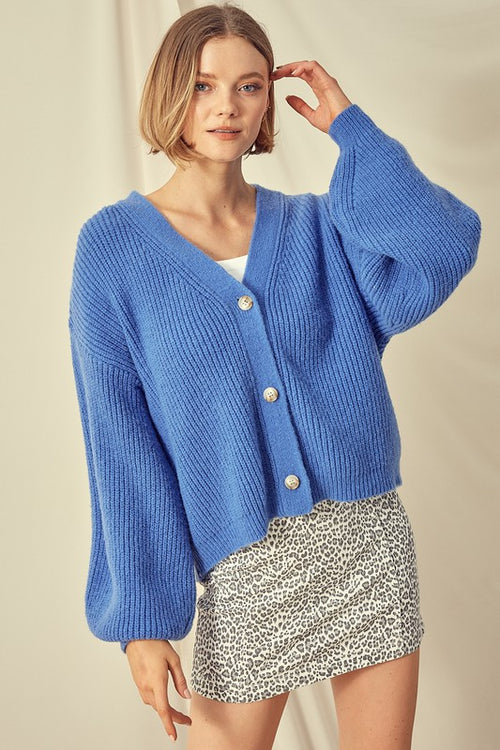 Delaney Button Sweater
