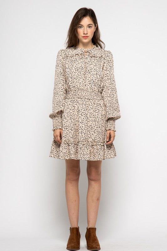 Mina Animal Print Dress