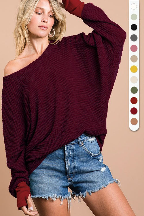 Carrie Waffle Knit Top