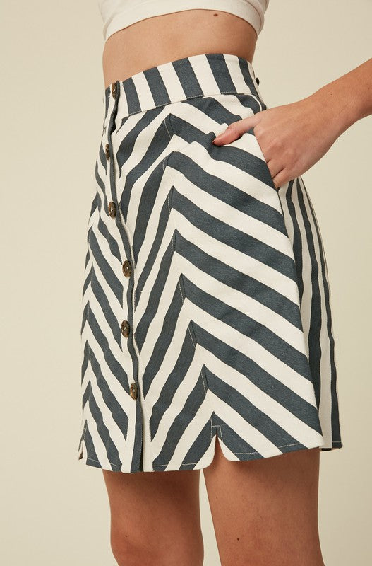 Keira Stripe Skirt