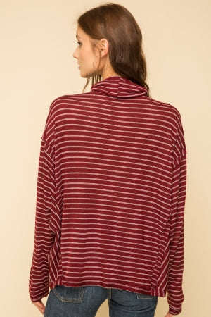 Jayla Striped Turtleneck