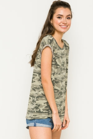 Maggie Camo Top