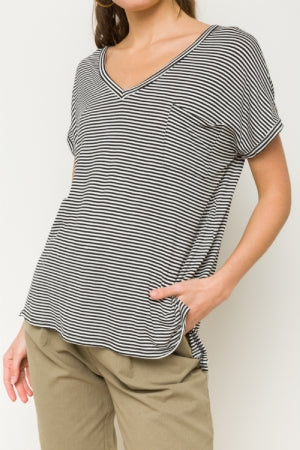 Onyx Striped Top