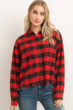 Meg Cropped Button Down