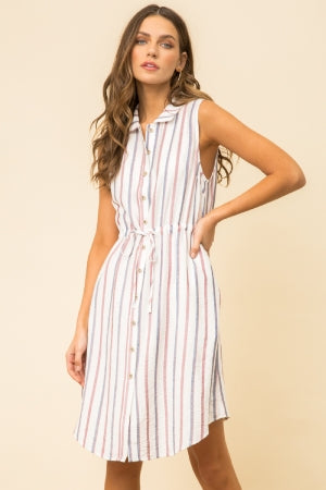 Elaina Stripe Dress