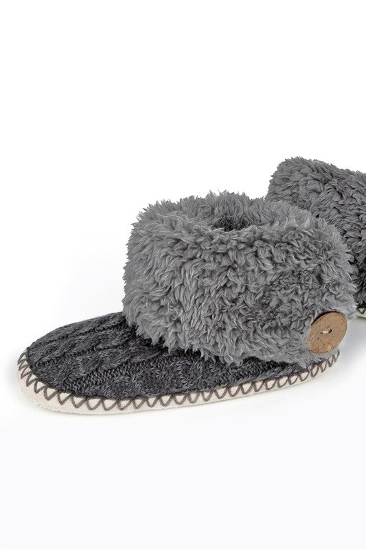 Soft Micro Fiber and Coconut Button Slippers