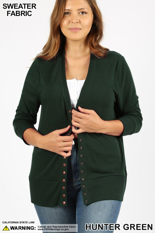 Margaret Snap Button Cardigan
