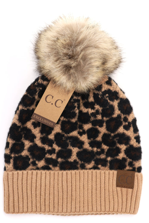 Animal Print Fur Pom