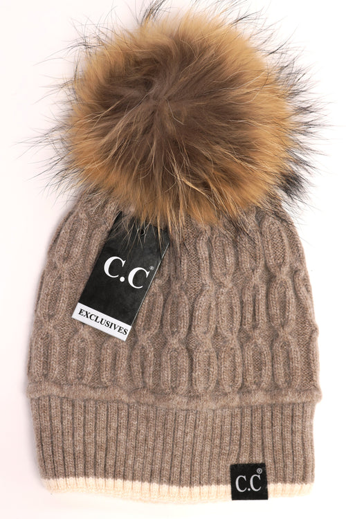 CC EXCLUSIVE - BLACK LABEL SPECIAL EDITION SOLID COLOR TRIM KNIT BEANIE