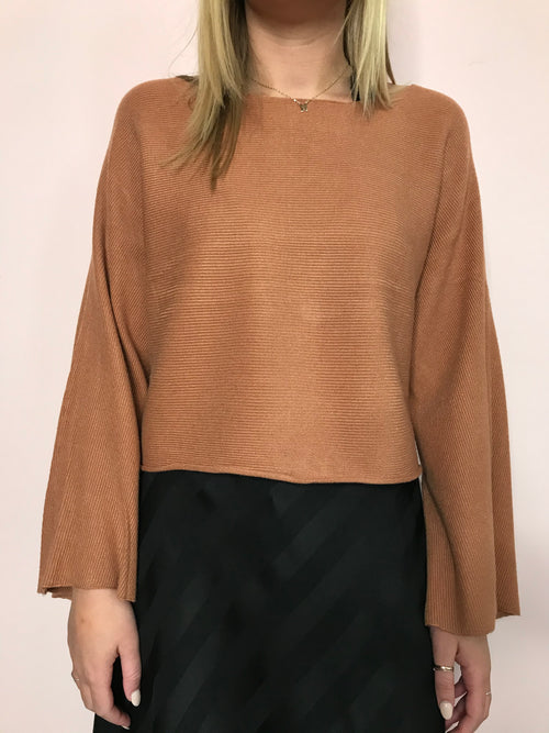 Tia Bell Sleeve Crop