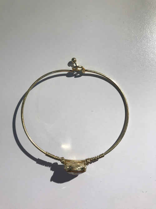Circle Glass Bead Bangle