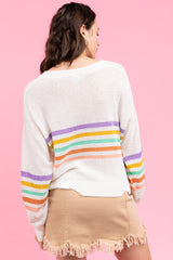 Rose Striped Sweater