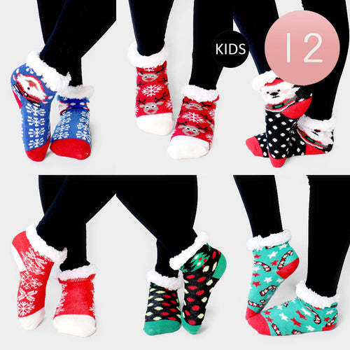 Kids Sherpa Slipper Socks