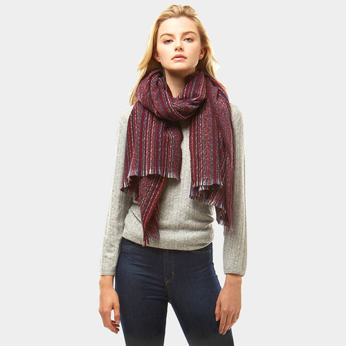 Multi Colored Stripe Scarf