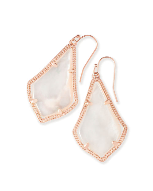 Alex Earring Rose Gold Ivory Mother of Pearl
