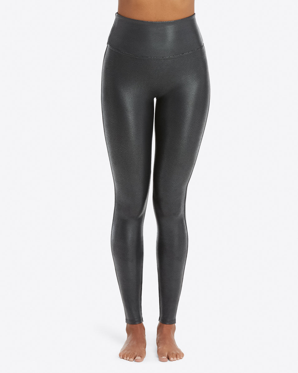 Faux Leather Pebbled Legging